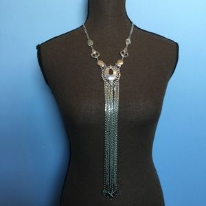 Chico's Boho Hammered Statement Necklace